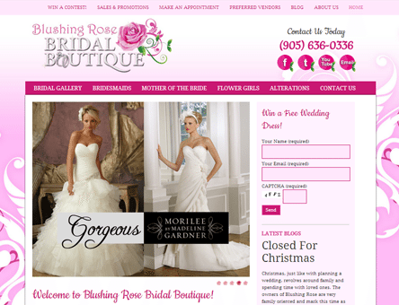 Bridal Boutique Website Design Services