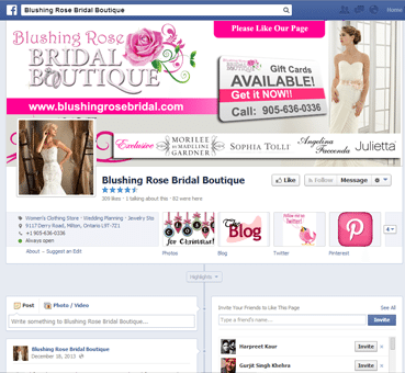 Website Development Bridal Boutique