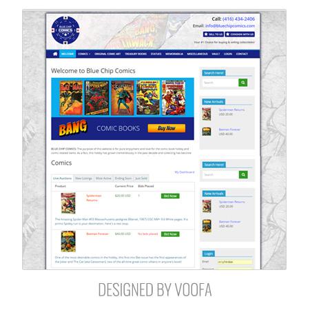 Comics Auction Web Design