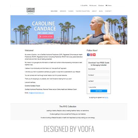 Instagram Fitness Celebrity Web Design