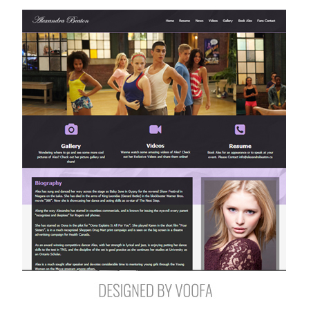 Toronto Actor Film Movie Studio Web Design