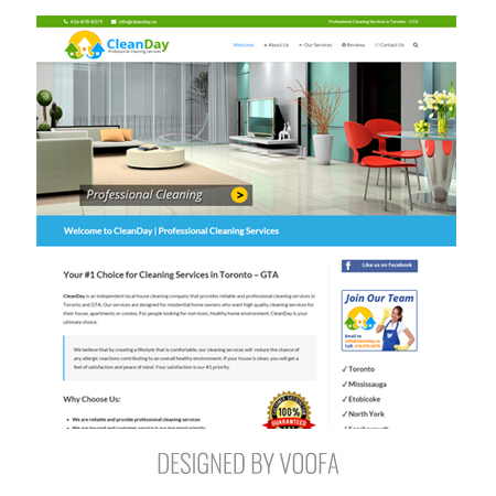 Toronto Cleaning Company Web Design