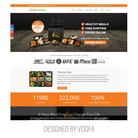 Toronto Healthy Meal Delivery Web Design