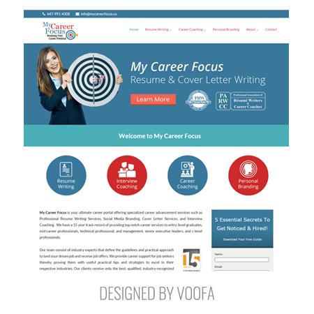 Toronto Resume Writing Recruitment Web Design