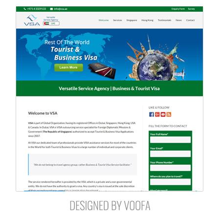 Visa Application Web Design