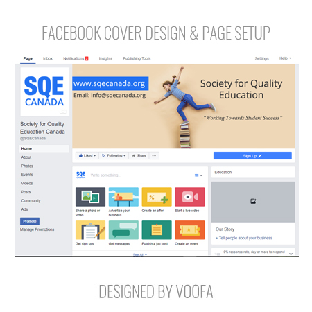 Charity Facebook Page Design