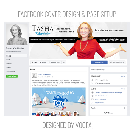 TV Celebrity Facebook Page Design