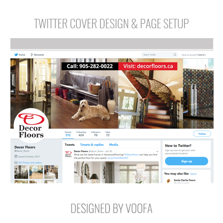 Twitter Page Design and Setup