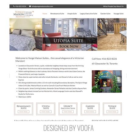 Toronto Airbnb Rental Web Design