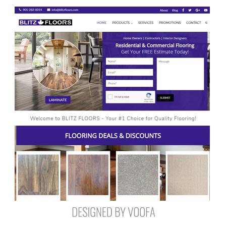 Toronto Flooring Store Web Design