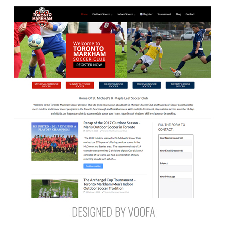 Toronto Sports Gym Web Design