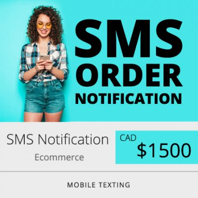 SMS Notification for Ecommerce Order Status
