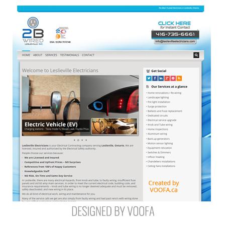 Electrician Company Web Design