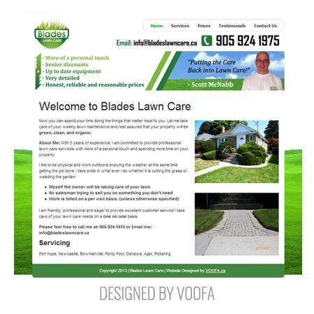 Lawncare Web Design