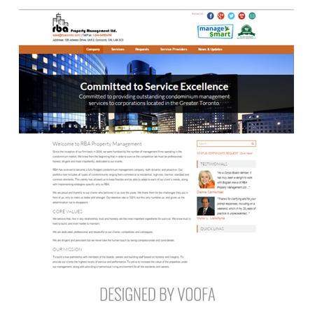Condo Management Website Design