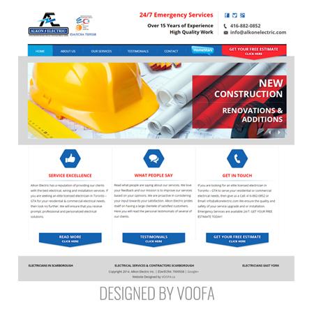 Electricians Web Design