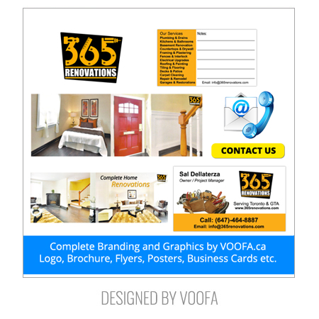 Renovation Company Flyer design